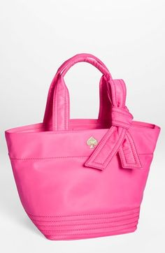 Love! kate spade new york pink bow tote