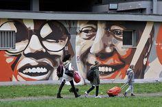 Art by ORTICANOODLES (2017) #Milan #milano #Italy #FrancaRame #DarioFo #Orticanoodles  #graffiti #streetart #murales #mural #urbangraffiti #paint #pittura #portrait #ritratto