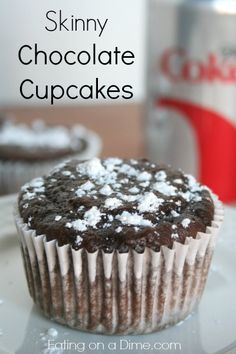 Try these Skinny Chocolate Cupcakes (only 80 calories each!) - you just need two ingredients for this tasty treat.