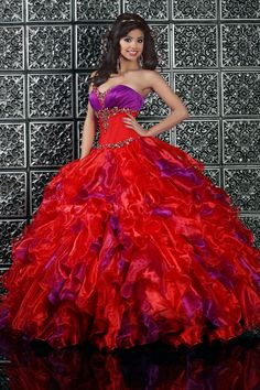 Custom quinceanera dresses in bright colors! These quince dresses can be made in any color. Lots of vestidos de quinceanera to choose from. Bridesmaid Dresses, Prom Dresses, Wedding Dresses, Dress Prom, Chiffon Dresses, Formal Dresses, Masquerade Ball Gowns, Masquerade Party, Cheap Quinceanera Dresses
