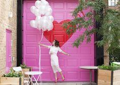 Pink Red Heart Garage Door Bucktown Chicago