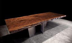 black walnut table by John Houshmand