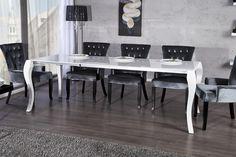 Wunderbar Casa Padrino Barock Esstisch Hochglanz Weiß Mit Auszug 170/200/230cm    Esszimmer Tisch   Barock Möbel Modern
