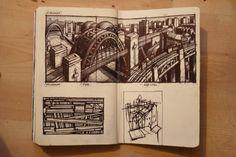 Thumbnail Sketches I (biro) - Jim Edwards