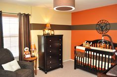 Not a Texas fan. However, I love the coordinating strips on the curtains, wall, and crib.  Any other color combo would be better.