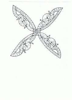 designed by Bep Vianen Bobbin Lace Patterns, Lace Making, Irish Crochet, Free Pattern, Creations, Easter, Crafty, Tattoos, How To Make