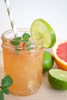Grapefruit Limetten Limonade 1