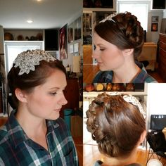If you are looking to have a bolder hair piece for your wedding, working around it and creating a look that way can have a stunning result.