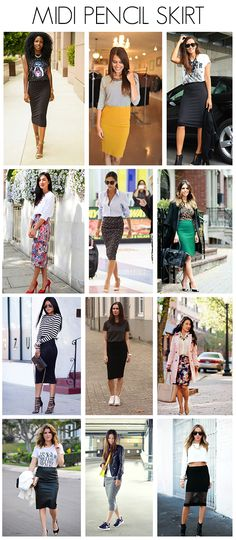Midi Pencil Skirt, Amazing! Follow my pins for more good stuff: http://www.pinterest.com/treypeezy