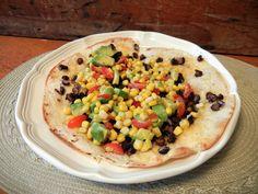 Black Bean Tostada with Corn Relish from diysisters.com