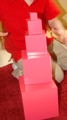 Montessori build a Pink Tower with every other cube for toddlers. Montessori Classroom, Montessori Toddler, Montessori Activities, Toddler Activities, Us School, School Ideas, Toddler Development, Montessori Materials, Practical Life