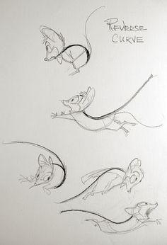 Paperwalker: Pencil Sketch: Don Bluth, Mrs Brisby