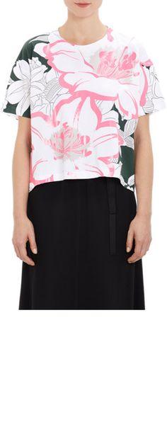 Marni Coated Floral T-shirt at Barneys.com