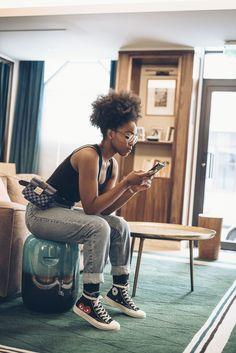 musesuniform-eiffel-blomet || Afro hair. Afro puff. Natural hair. Kinky hair.    kinky curly hair. Big hair.