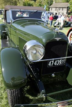 """The 1927 Duesenberg Model A car was the personal car of August """"Augie"""" Duesenberg. Owned by the Indianapolis Motor Speedway Hall of Fame Museum, they showed the car at the 2012 Dayton Concours d'Elegance at Carillon Park. Duesenberg drove this car until he died in 1955. 2012 Photography by James Razor/For Wheels"""