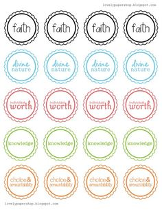 new beginnings cupcake toppers (YW)or great to use for YW in Excellence