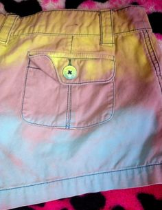 Items similar to Love Candy Shorts Mossimo Supply Co. 11 on Etsy Blue Spray Paint, Mossimo Supply Co, Love, Pink Yellow, Laser Cutting, Upcycle, Casual Shorts, Candy, Trending Outfits