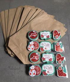 Adventskalender 24 Weihnachtstüten Papiertüten Geschenk Tüte Advent Kalender Neu | eBay