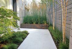 Modern Landscaping Design Ideas for Your Frontyard and Backyard Contemporary Garden Design, Modern Landscape Design, Modern Landscaping, Landscape Architecture, Backyard Landscaping, Modern Planting, Landscaping Ideas, Architecture Design, Modern Design