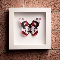 Rorschach: Framed Paper Butterfly with Ink Blot Design Paper Butterflies, Butterfly, Collaborative Art, Art School, Art Pieces, Card Making, Paper Crafts, Psychiatry, Ink