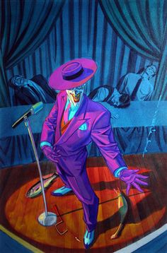 The Joker - Batman: Shadow of the Bat - Brian Stelfreeze Comic Del Joker, Le Joker Batman, Joker Arkham, Batman Robin, Art Du Joker, Der Joker, Batman Universe, Dc Universe, Comic Books Art