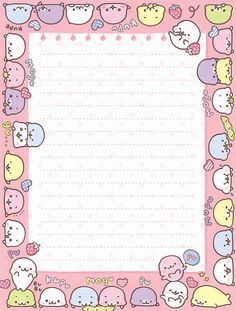 "San-X Mamegoma ""Cute 'n' Round"" Letter Set"