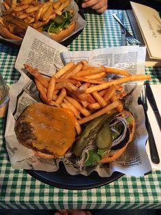 Elk burger from Klondike Rib & Salmon in Whitehorse Yukon Alaska, Elk, Salmon, Unique, Moose, Elks, Atlantic Salmon