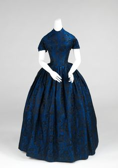 Evening Dress, American ca. 1850–52 silk