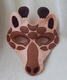 Giraffe felt mask. Giraffe mask for children. by BBHandcrafts