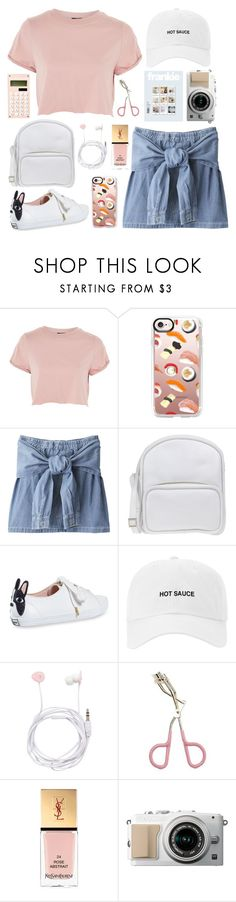"""cotton candy"" by tiffaninovia ❤ liked on Polyvore featuring Topshop, Casetify, Jil Sander Navy, Kate Spade, Forever New, Etude House and Yves Saint Laurent"