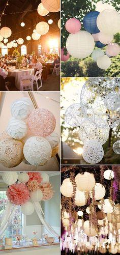 2015 trending paper lantern wedding hanging decoration ideas