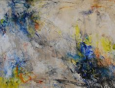 The Spaces Beside Us by Nancy Leigh Hillis Acrylic, graphite, charcoal, oil stick