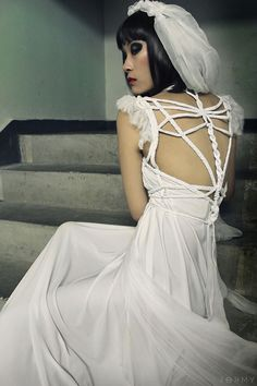 Draped Wedding Dress Dragonfly No. 1 ROHMY Gold Label /// by ROHMY