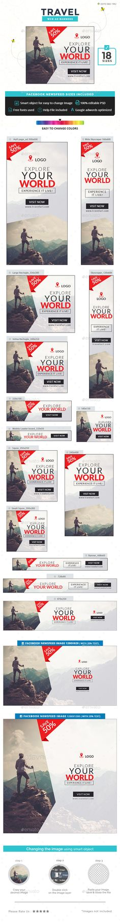 #Travel #Banner #Template - #Banners & #Ads #Web #Elements #Design. Download here: https://graphicriver.net/item/travel-banners/19902789?ref=yinkira