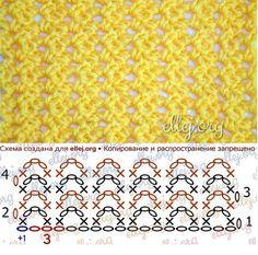 Stitch Patterns, Knitting Patterns, Crochet Patterns, Free Crochet, Knit Crochet, Crochet Stitches Chart, Crochet Tablecloth, Crochet Blouse, Crafts