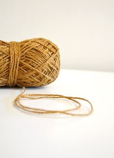 Rustic Jute Twine / string / Yarn for crafting, knit, crochet, gifts, packing, scrapbook, wedding, natural tones, Set of 3 buy more and save. $20.00, via Etsy.