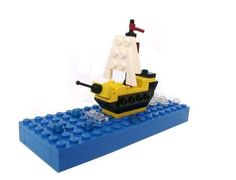 Microscale ship: A LEGO® creation by Peter Lewandowski : MOCpages.com