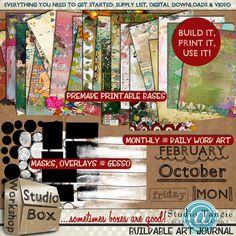 Scrapbookgraphics.com :: Altered Art & Collage :: Workshops :: {Studio Box Workshops No. 1} Buildable Art Journals