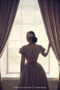 Lee Avison HISTORICAL WOMAN LOOKING OUT WINDOW Women