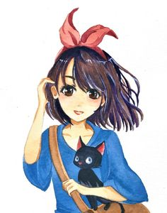 i've always wanted to draw fanart for the ghibli movies <3 Kiki's delivery service