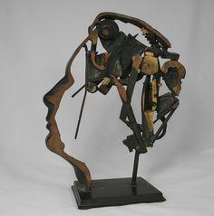 Arman (1928-2005) - Visage d'homme - Nouveau réalisme