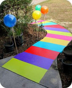 Party in Candyland - (Sidewalk/gameboard made of duct tape