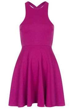 **Textured Cross Strap Back Dress by Oh My Love