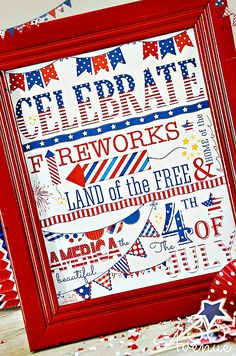 4th of July #Printable... Print it for free at the36thavenue.com