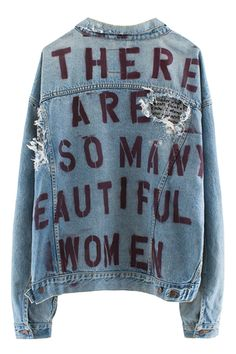 371dd1dc4f Filed under DENIM IS IN by rickrafsimons   Stencil lettering print   Denim  jacket   Words