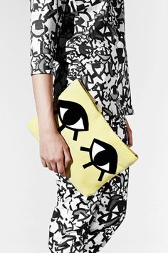 JOANNA PYBUS A/W13 Chartreuse Leather Monster by joannaPYBUS, £120.00