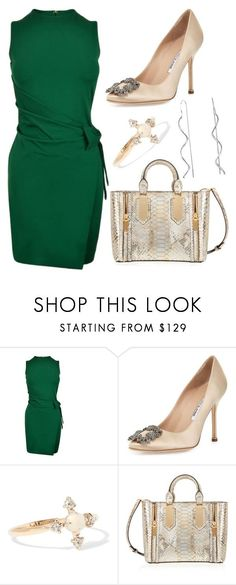 """""""Untitled #1938"""" by meryem-mess ❤ liked on Polyvore featuring Dsquared2, Manolo Blahnik, Catbird, Henri Bendel and Bling Jewelry"""