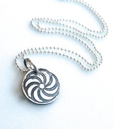 The Armenian Eternity Symbol Pendant on Bead Chain.  Sterling silver  Hand made individually ..each one is one of a kind and will have its own