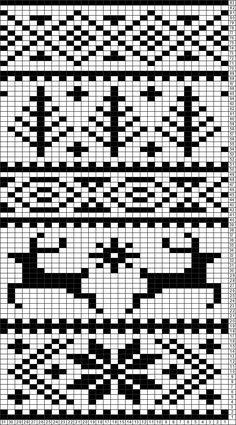 Tricksy Knitter Charts: Fair Isle reindeer pattern by Janette P Fair Isle Knitting Patterns, Fair Isle Pattern, Knitting Charts, Loom Knitting, Knitting Stitches, Knitting Designs, Knitting Projects, Knitting Tutorials, Free Knitting