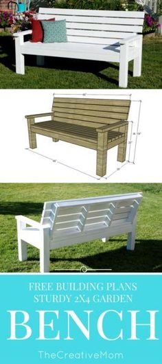 DIY Sturdy Garden Bench- Free Building Plans:
